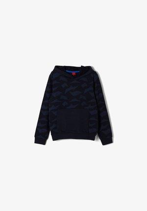 Hoodie - dark blue aop