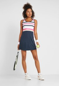 Fila - DRESS AUDREY - Sportovní šaty - peacoat blue/fuchsia purple - 1