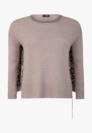 MIT ZIPPER - Sweatshirt - stein