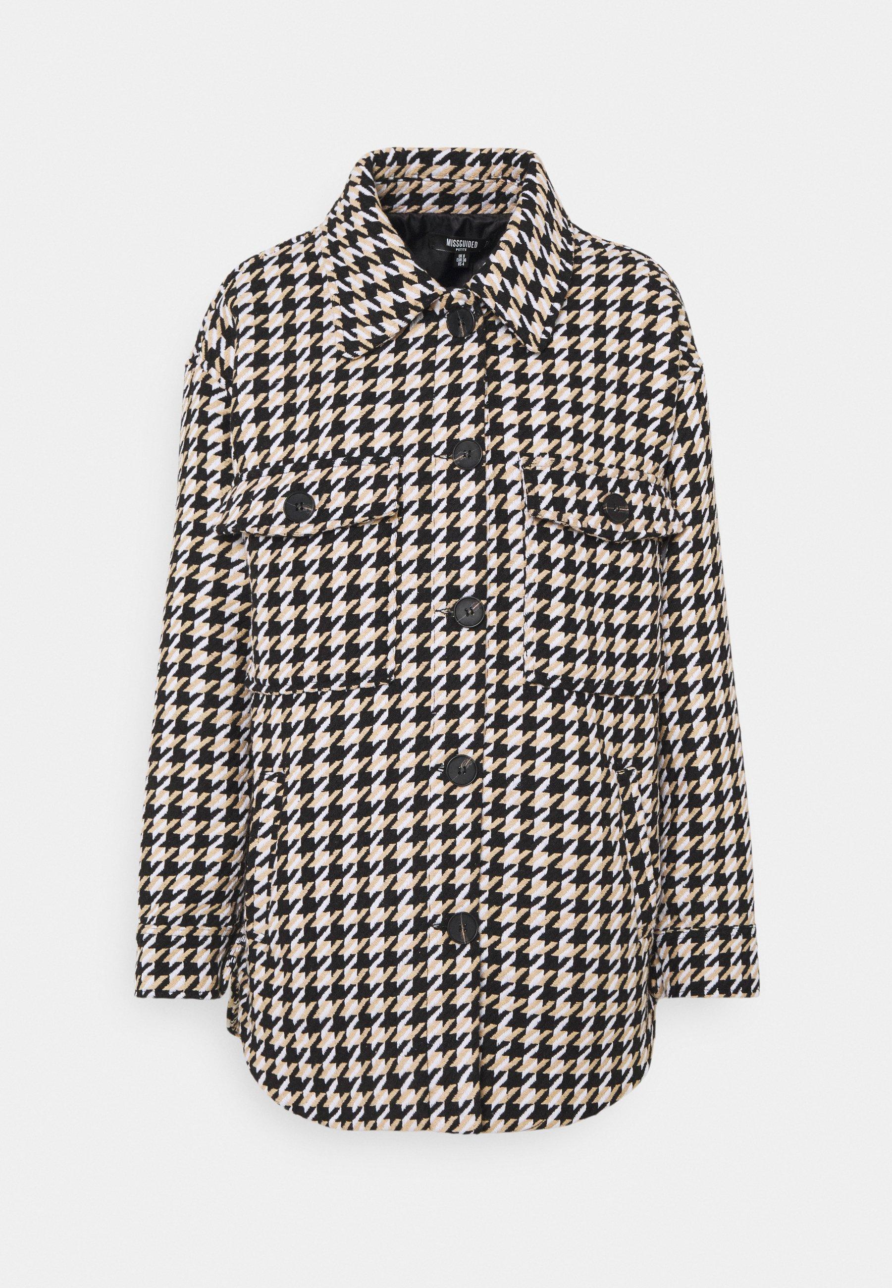 Women HOUNDSTOOTH SHACKET - Short coat