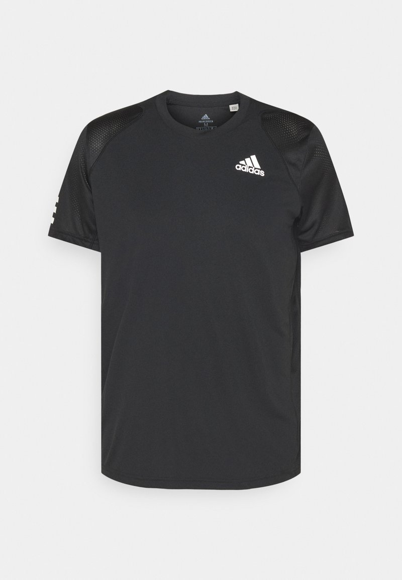 adidas Performance - CLUB TEE - T-shirt imprimé - black/white