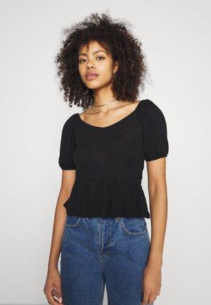 PCTENZIN - T-shirt basic - black