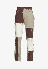 Jaded London - PATCHWORK  BOYFRIEND FIT WITH FRAYED SEAMS - Jeans relaxed fit - brown - 5