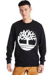 Timberland - CORE TREE LOGO CREW - Sweatshirt - black-white - 0