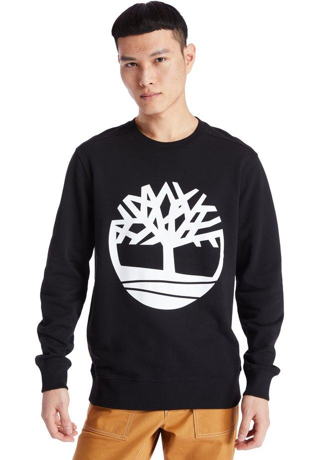 CORE TREE LOGO CREW - Collegepaita - black-white