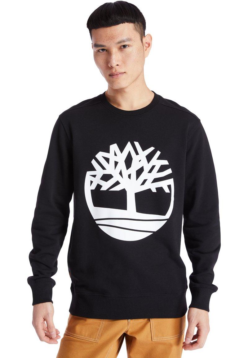 Timberland - CORE TREE LOGO CREW - Sweatshirt - black-white