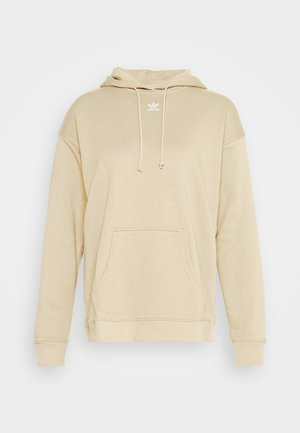 TREFOIL ESSENTIALS HOODED - Bluza z kapturem - linen khaki