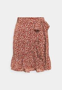 ONLOLIVIA WRAP SKIRT - Wrap skirt - henna