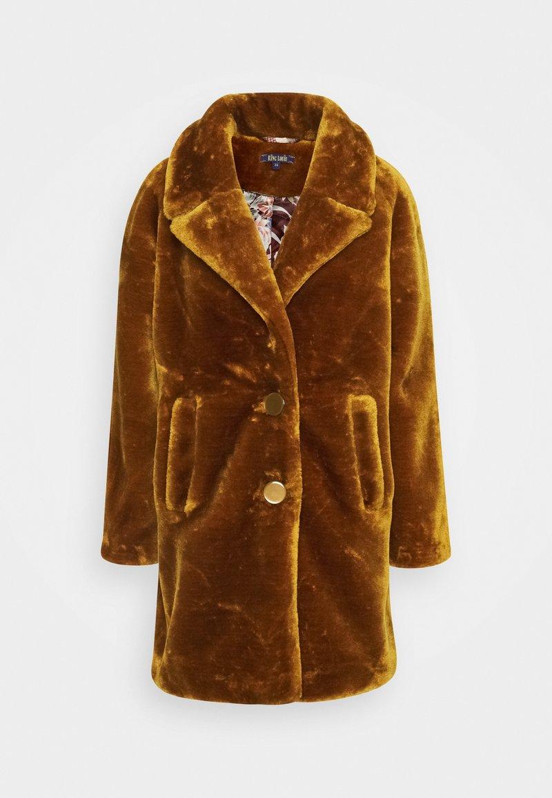 King Louie - AMY COAT ZOOT - Klasický kabát - brunette brown