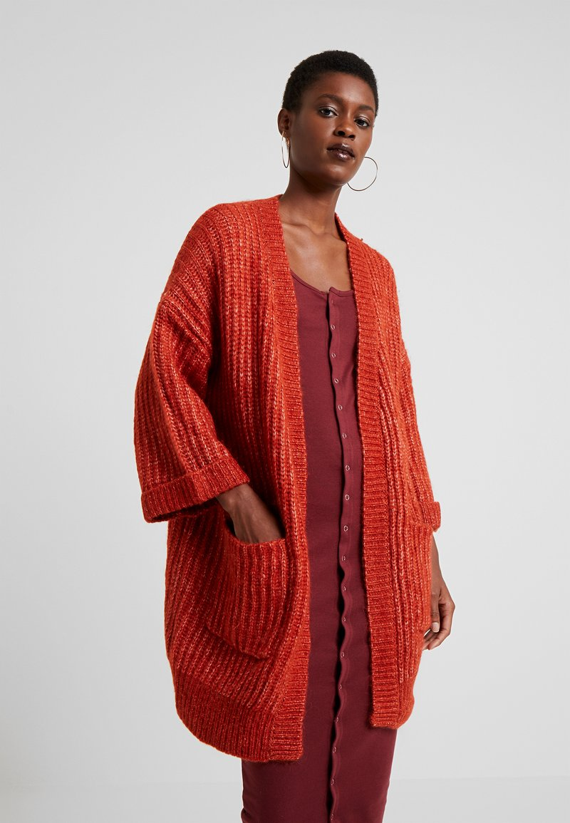 YAS Tall - YASSUNDAY CARDIGAN - Strikjakke /Cardigans - rooibos tea