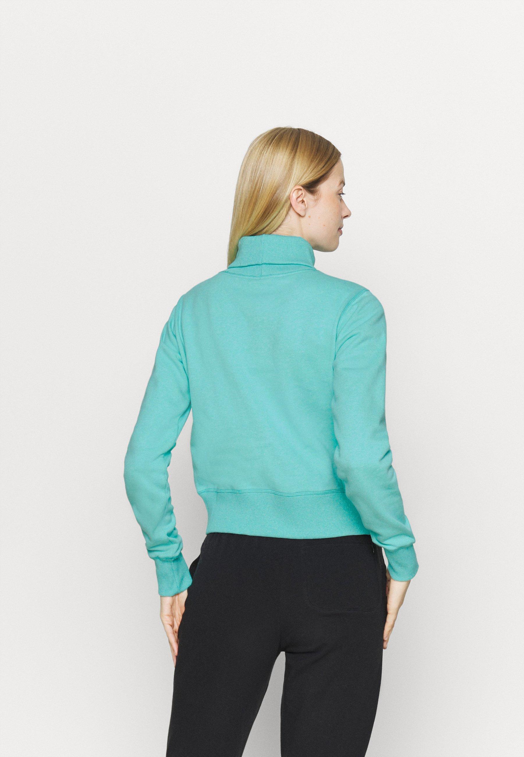Champion HIGH NECK ROCHESTER - Sweatshirt - turquoise x1eW5