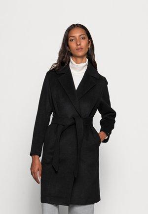 BLEND BELTED COAT - Klasický kabát - black