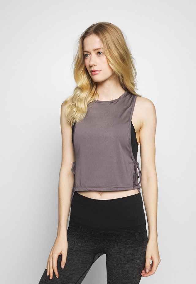 TIE SIDE  - Top - smoky grey