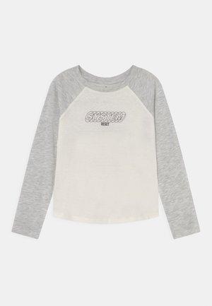 MINI TOM LONG SLEEVE RAGLAN TEE - Maglietta a manica lunga - summer grey marle/dusk purple