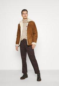 Schott - ARKANSOS - Leather jacket - rust - 1