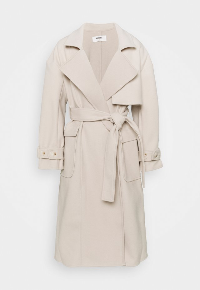 COURTNEY - Classic coat - stone