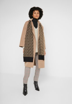 ALLOVER SCARF - Schal - dark camel/ black