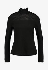 Vero Moda - VMMALENA HIGNECK BLOUSE - Top sdlouhým rukávem - black - 3