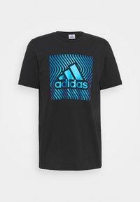 Print T-shirt - black/bold blue
