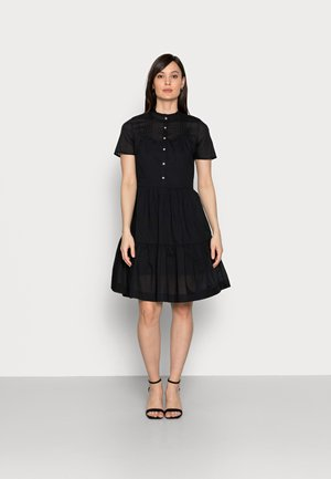 VOILE KNEE DRESS - Shirt dress - black
