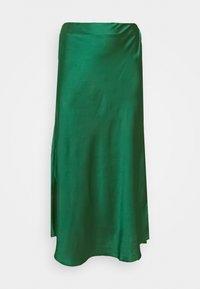 Glamorous Curve - MIDI SKIRT - Maxi skirt - dark green satin - 0