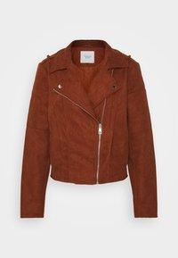 JDY - Faux leather jacket - cherry mahogany - 4