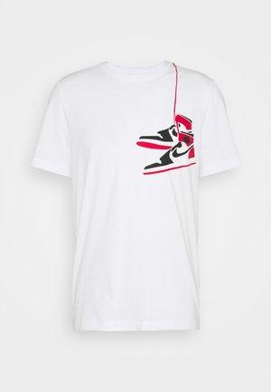 SHOE CREW - Print T-shirt - white