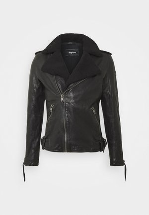 BEREND - Leather jacket - black
