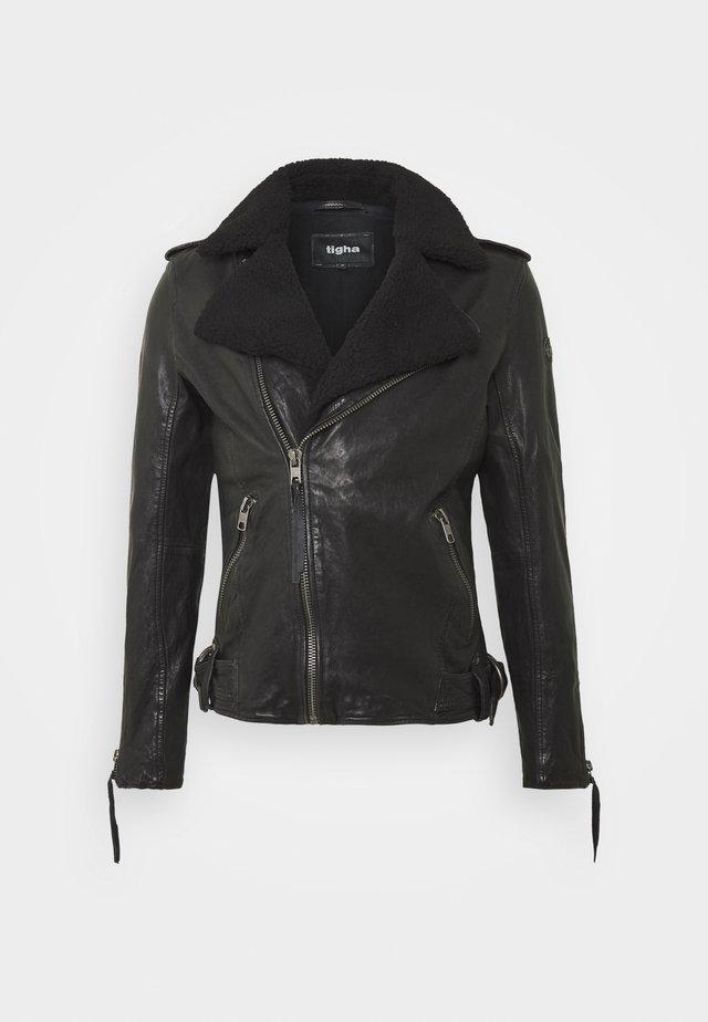 BEREND - Leren jas - black