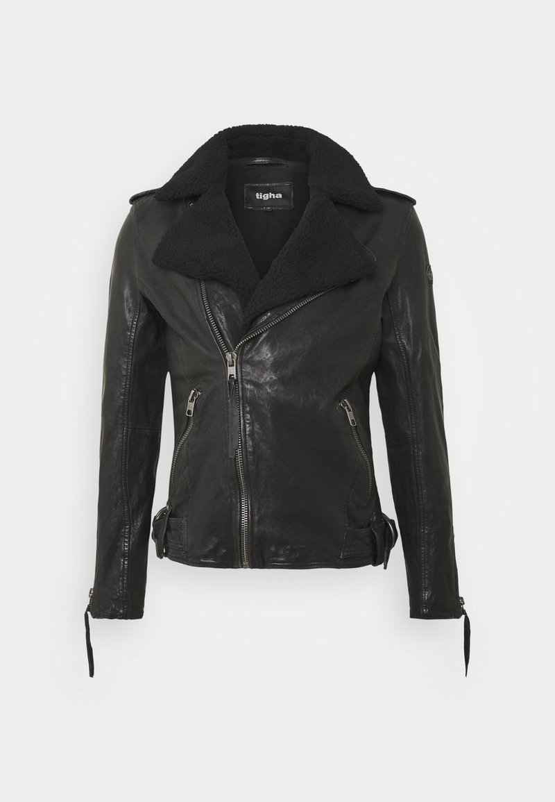 Tigha - BEREND - Leather jacket - black