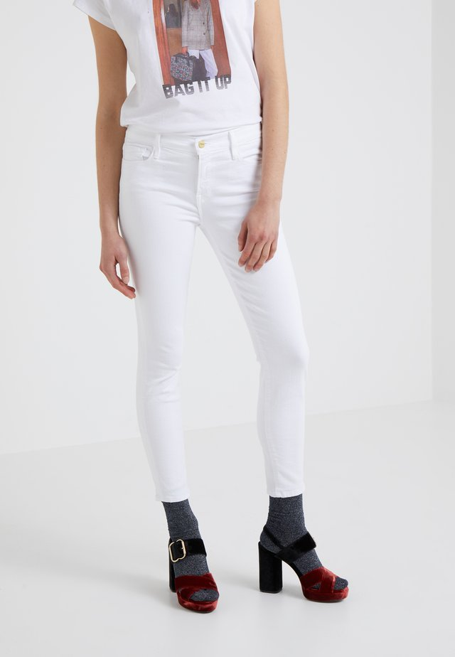 LE COLOR CROP  - Jeansy Skinny Fit - blanc