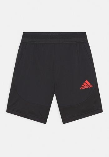 Krótkie spodenki sportowe - black/vivid red