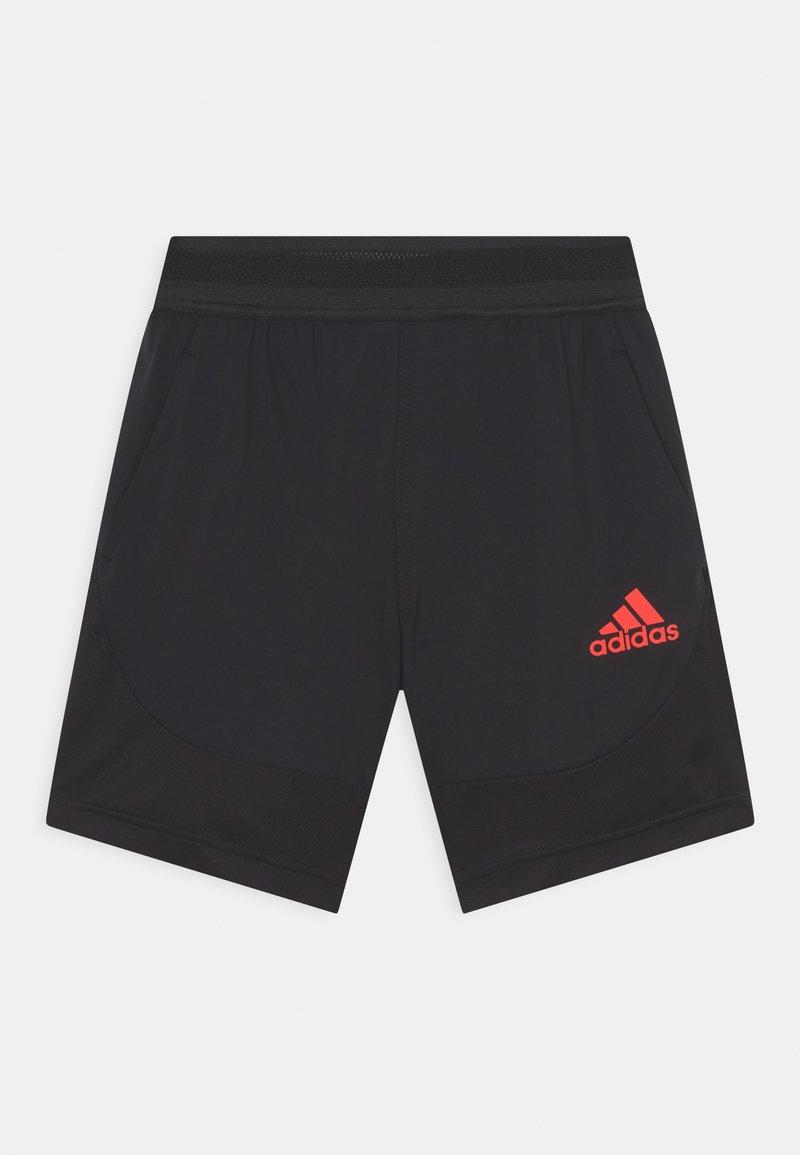 adidas Performance - Krótkie spodenki sportowe - black/vivid red