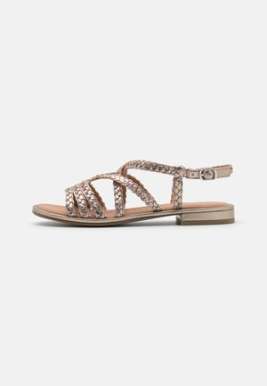 Sandalias - taupe metallic