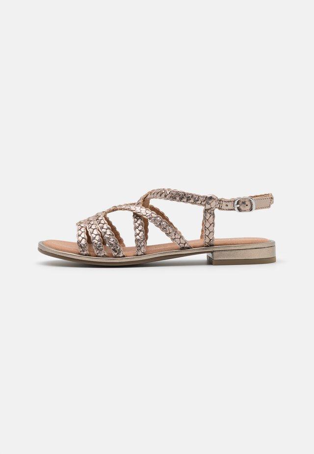 Sandały - taupe metallic