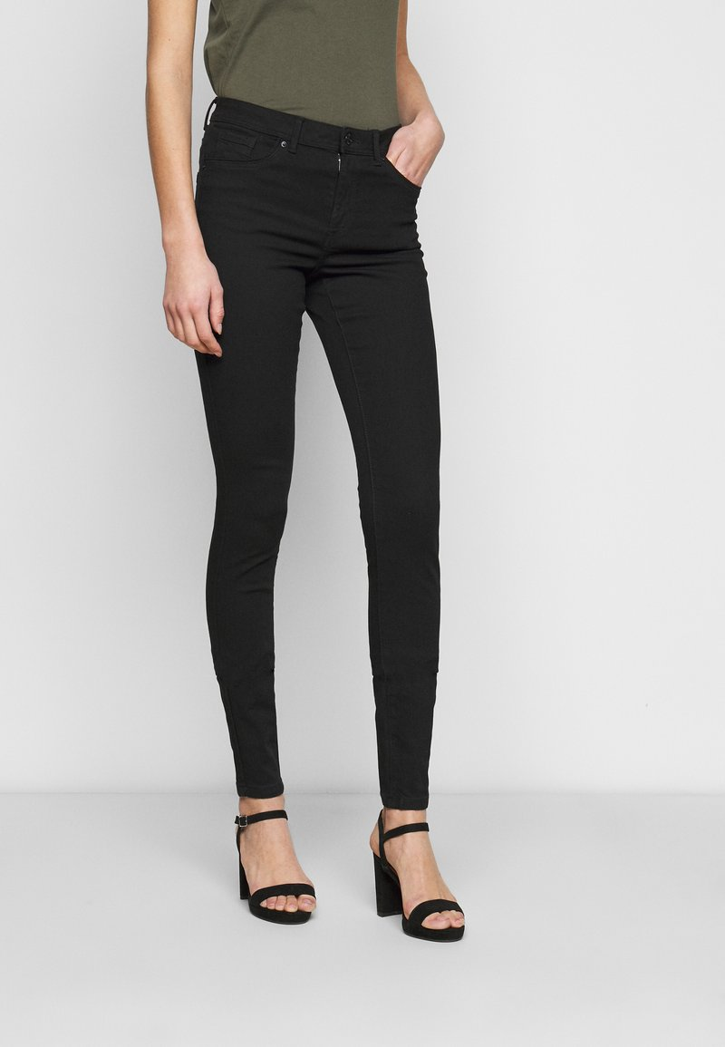 Vero Moda Tall - VMTANYA PIPING RAW - Jeans Skinny Fit - black