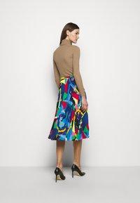 Lauren Ralph Lauren - SKIRT - Pleated skirt - black/multi - 2