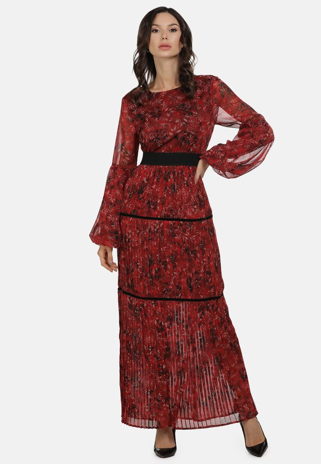 Maxi-jurk - roter blumen print