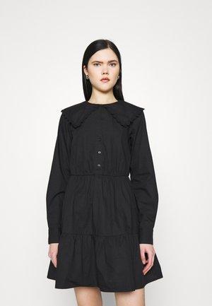 COLLAR DRESS - Denní šaty - black