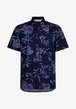 PATCHWORK FLORAL PRINT - Shirt - marine