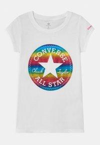 Converse - CHUCK PATCH  - Print T-shirt - white - 0