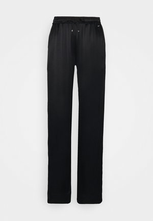 PULL ON WIDE LEG PANT - Trousers - black