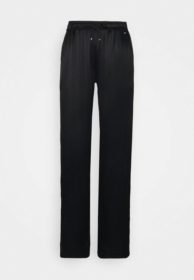 PULL ON WIDE LEG PANT - Kalhoty - black