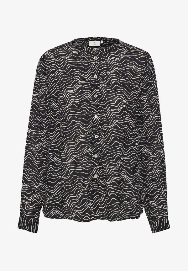 Kaffe Koszula - black, chalk lines/czarny PCDQ