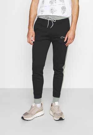 PANELLED SIGNATURE JOGGER - Spodnie treningowe - black