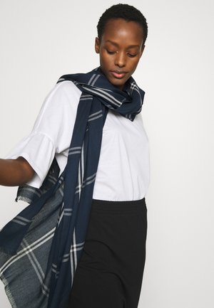 Scarf - navy/white