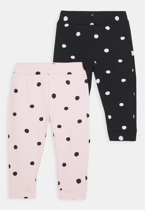 TROUSERS 2 PACK - Leggings - Trousers - caviar/pink dogwood