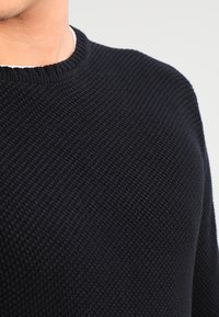 Only & Sons - ONSDAN STRUCTURE CREW NECK  - Stickad tröja - black - 3