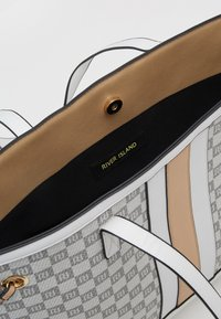 River Island - CHECKERBOARD SHOPPER - Tote bag - grey - 3