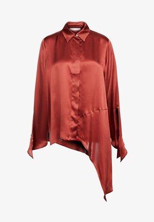 LINKA - Button-down blouse - copper
